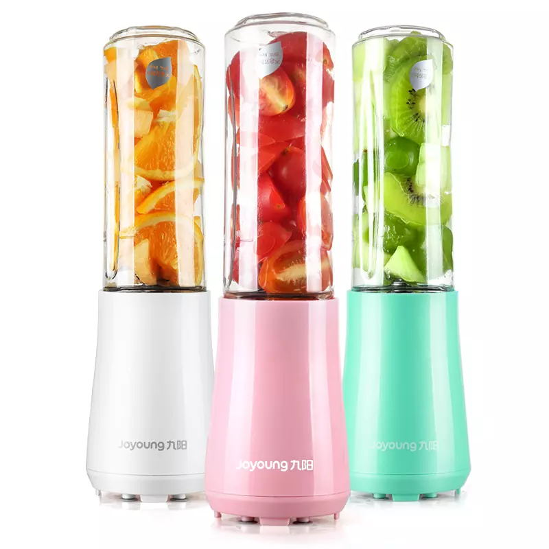 Joyoung Portable Mini Juicers with 2 Bottles 3 Colors Mini Blenders Mixers Baby Food Jam Kitchen Aid