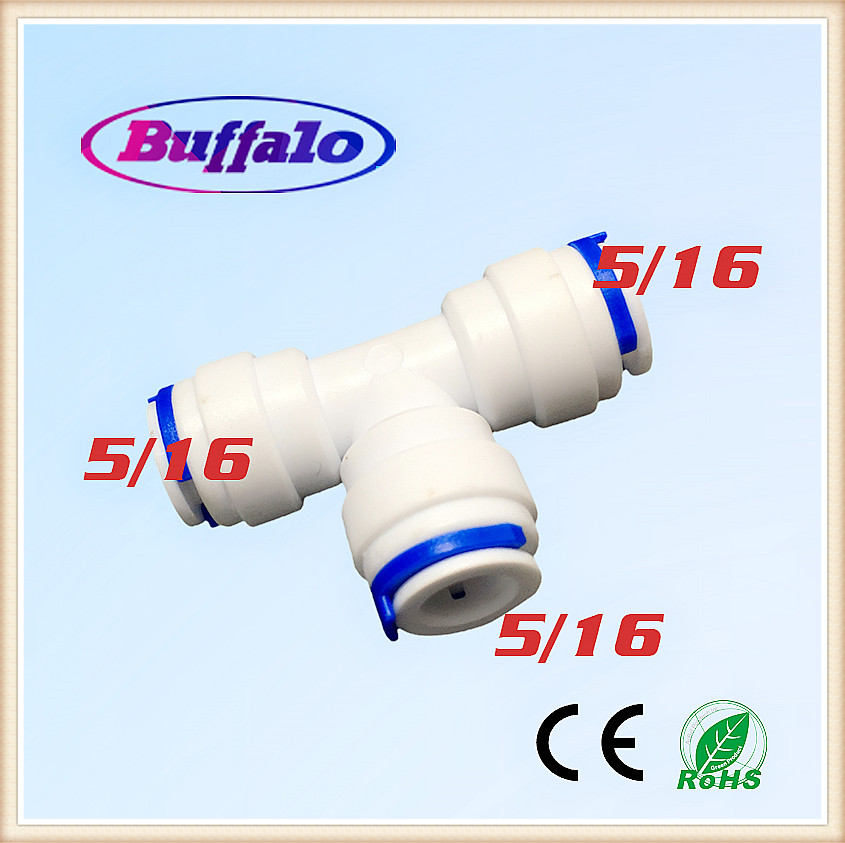 25PCS Union Tee Type T hose Quick Connect Push Fit RO Water Reverse Osmosis Aquarium System Connector Fittings 5/16 3-way water filter parts 2 pcs 1 4o d tube 3 way union tee quick connect push fit ro water purifier reverse osmosis machine 702 page 4 page 1 page 1 page 3