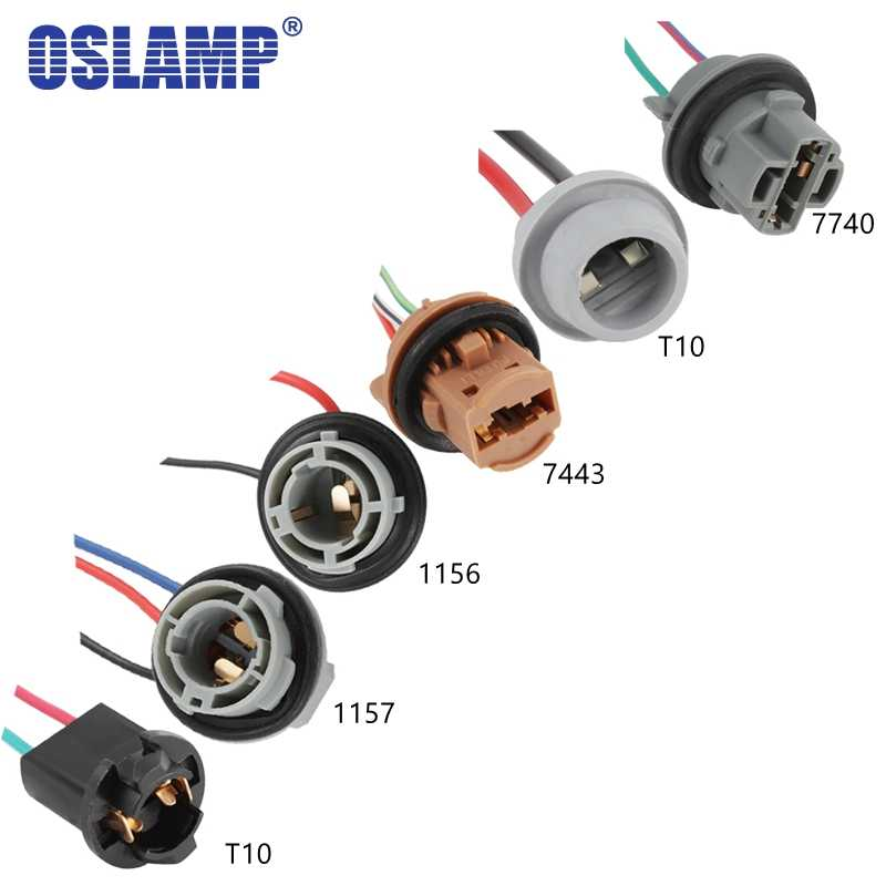Oslamp 2PC T10 1156 1157 7440 7443 Headlight Bulb Holder Extension Automotive Wire Halogen Adapter Socket Lamp Connector