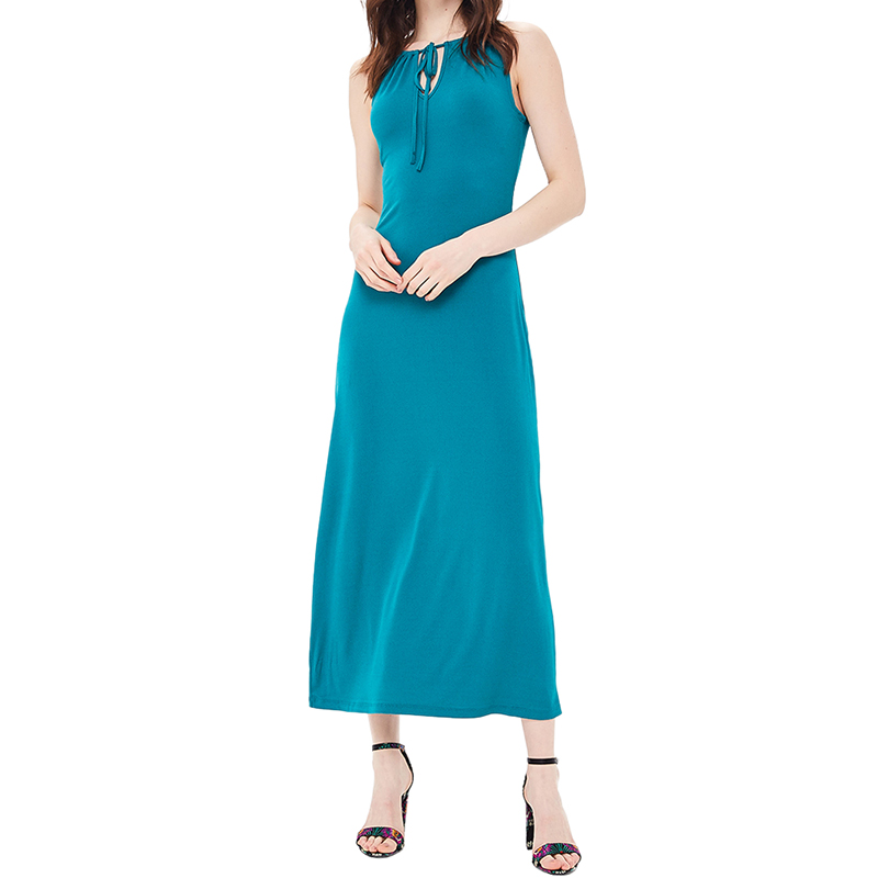 Dresses MODIS M181W00801 women dress cotton  clothes apparel casual for female TmallFS alluring scoop neck ruched asymmetrical backless women s dress