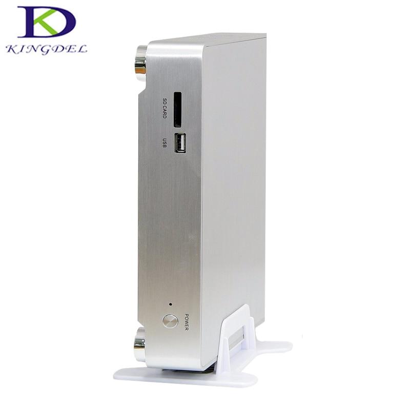 Top Quality Office Computer Mini PC Intel Core I3 500U Dual Core HD Graphics5000 HDMI VGA WIFI FanDesktop PC SD Card Reader Slot