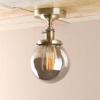 Permo Vintage Smoked Globe Glass Sconce Wall Light Retro Wall Lamp E27 Luminaire New Year Christmas lights for Loft Home Decor