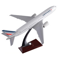 collectible Boeing777 300 big 32cm Air France airlines airplane model toys aircraft diecast plastic alloy plane gifts for kids