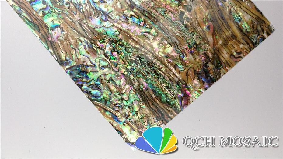 Купить с кэшбэком AAA grade New Zealand paua abalone shell laminate sheet for musical instrument and wood inlay with natural holes