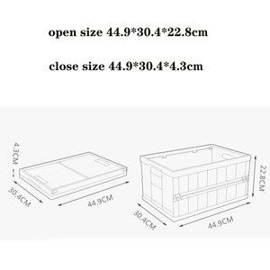 Image 4 - auto car folding storage box car organizer Multi function Plastic car debris storage box trunk organizer travel freeshipping