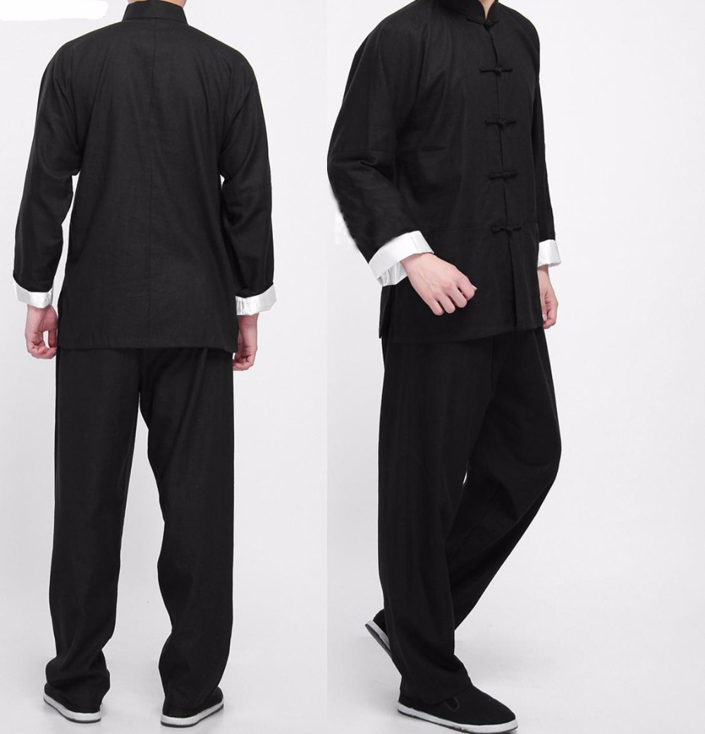 Bruce Lee Vintage Chinese wing chun Kung Fu Uniform Martial Arts Tai Chi Suits Classic Cotton