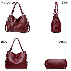 Image 3 - Luksusowe torebki Tassel torebki damskie Designer Sac A Main Casual duże torba z rączkami torebka damska skórzana torebka Vintage na ramię dla kobiet