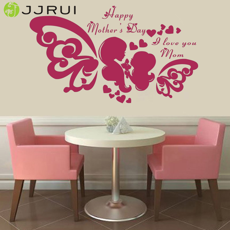 Aliexpress Buy Jjrui Happy Mothers Day Wall Window