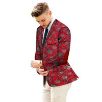 Embroidery Customized Fancy Men Suit Jackets Formal African Men Coat Business Dashiki Africa Party Wedding Suits Blazer WYN664