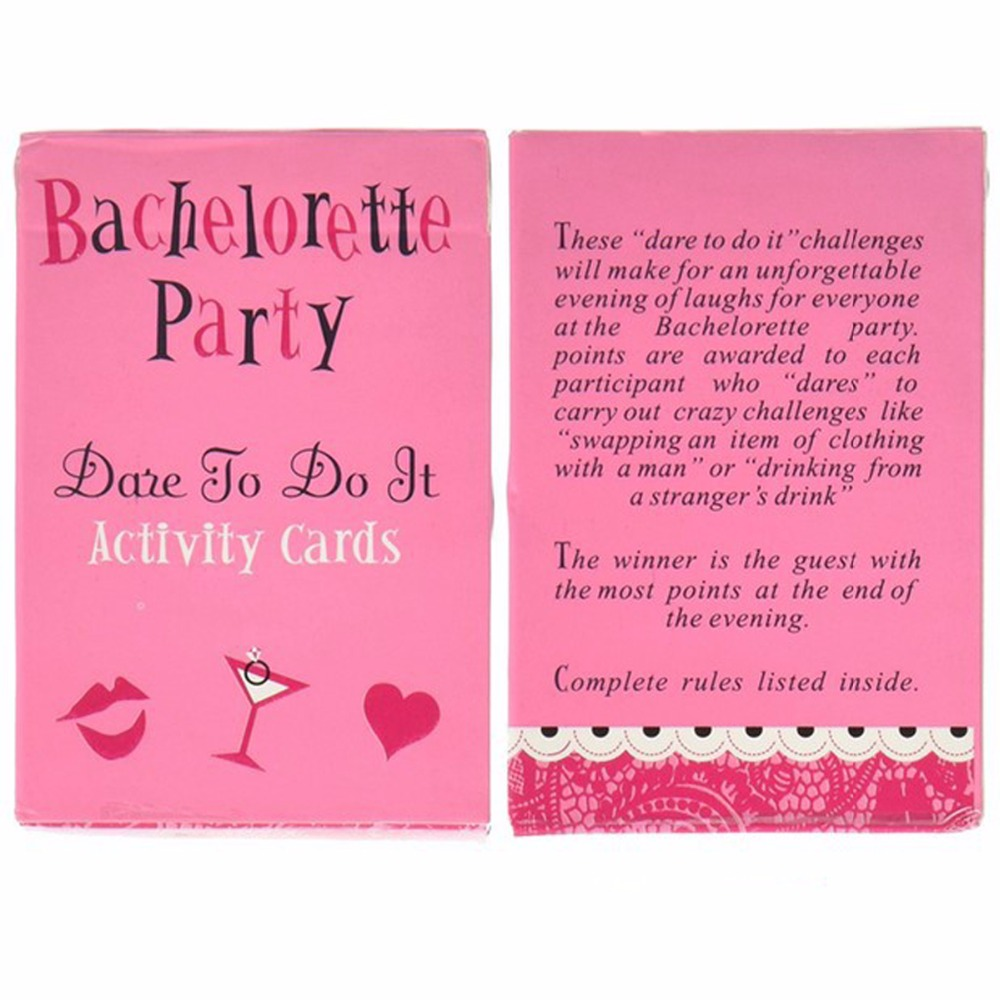 laphil bachelorette party truth or dare game card bridal shower games girls night out hen party supplies wedding decoration in party diy decorations from