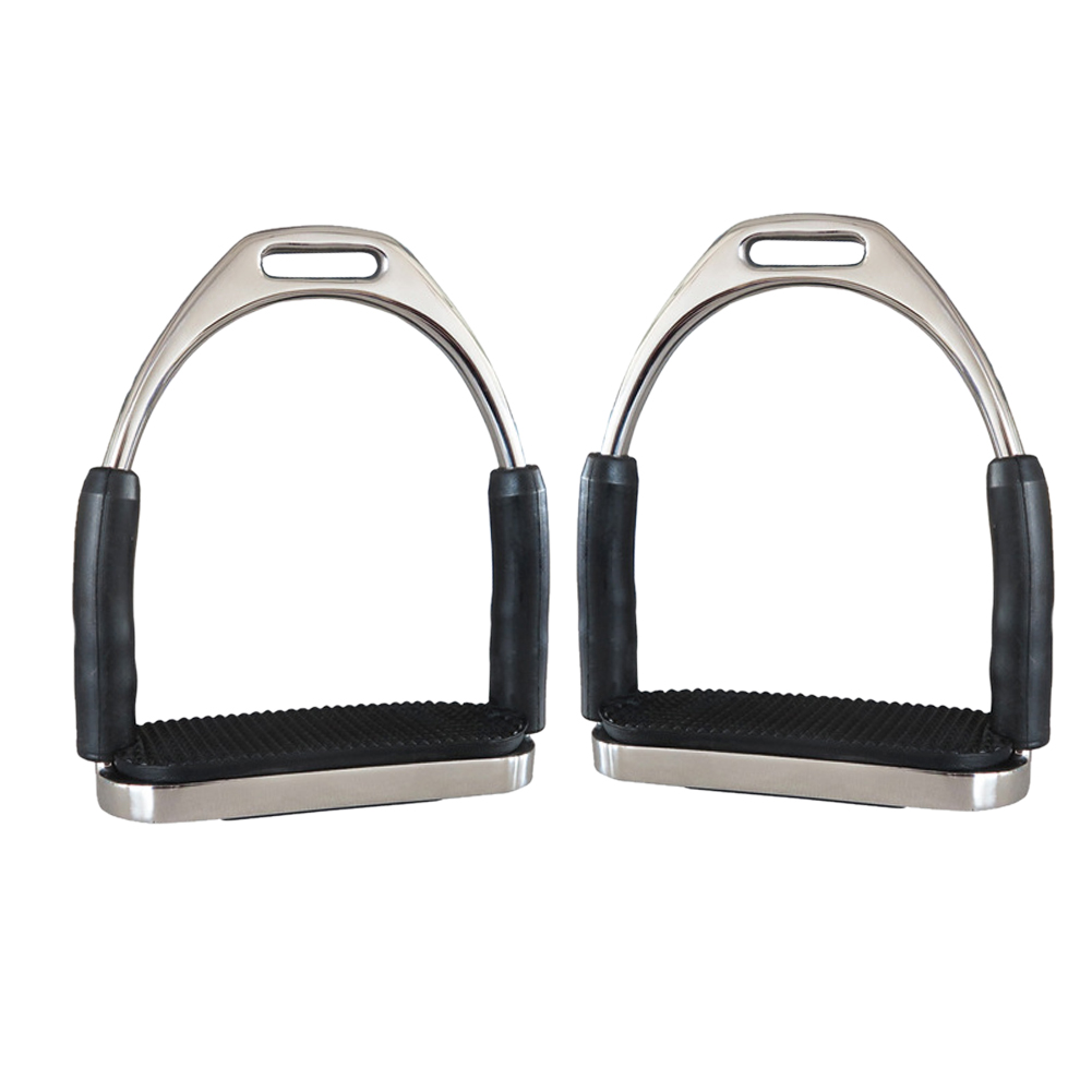 1 Pair Outdoor Racing Sports Flexible Anti Slip Stirrups Stainless Steel Horse Riding Saddle Pedals Folding Safety Equipment