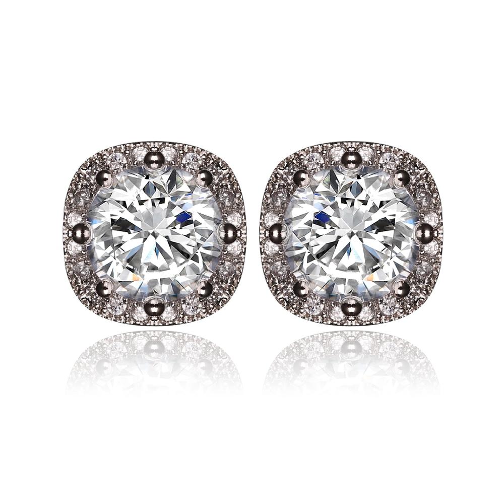 High Quality Fashion AAA Zircon Earrings For Women Simple Multicolor Cubic Zirconia Stud Earrings