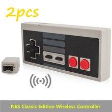 2 шт. Беспроводной Подключи и Играй Игровой Контроллер Геймпад для Nintendo NES Мини Кнопки Classic Edition С Wrireless Приемник