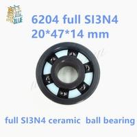 Free Shipping 6204 SI3N4 Full Ceramic Bearings 20 47 14 Mm