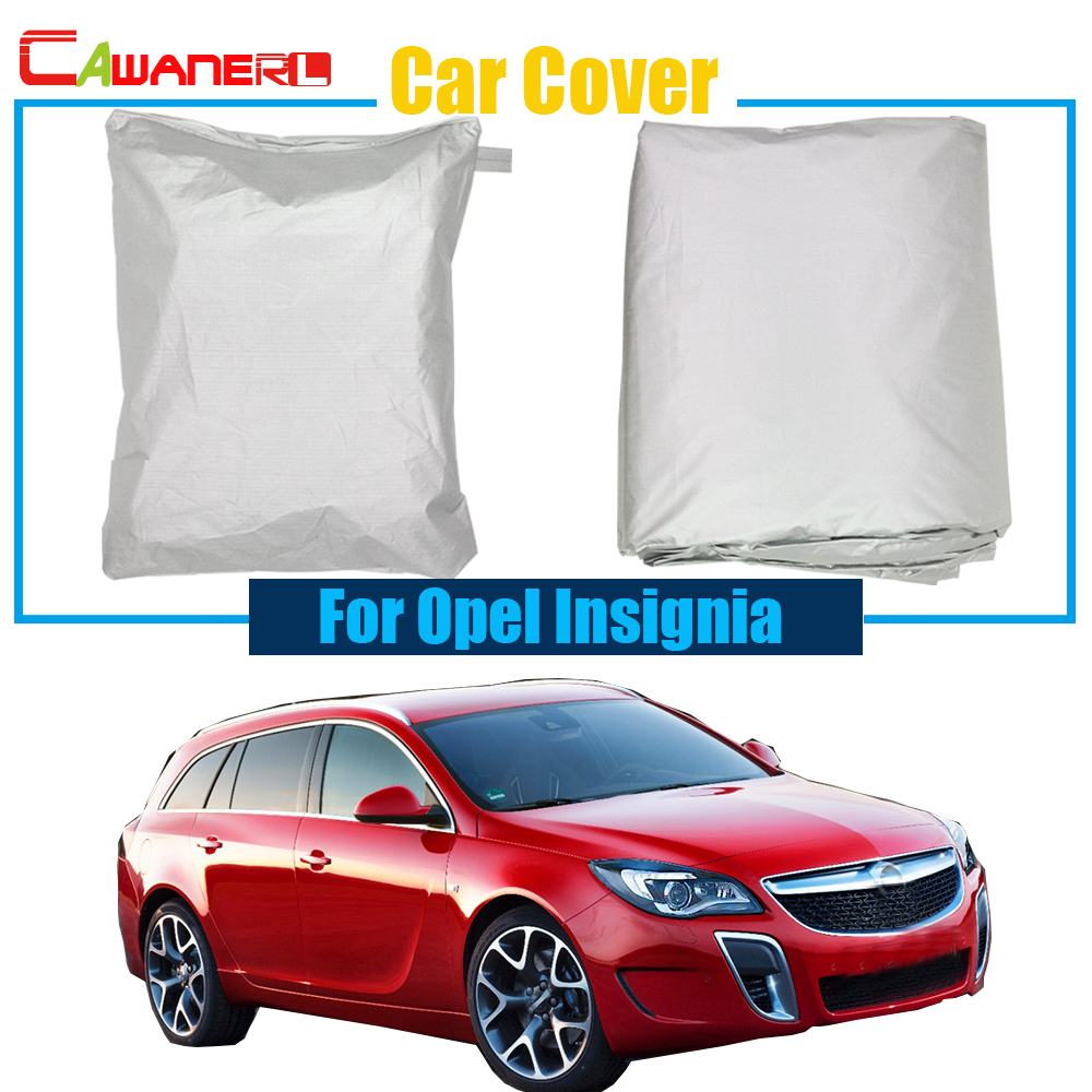 Cawanerl Car Cover Outdoor Snow Sun Rain Resistant Protection Cover Anti UV Dustproof For Opel Insignia