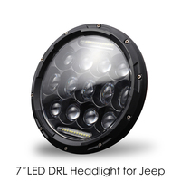 High Power H4/H13 7 In 300w Round LED Headlights Turn Signal Light White DRL Headlamp For Jeep Wrangler Off Road 4x4 Motorcycle