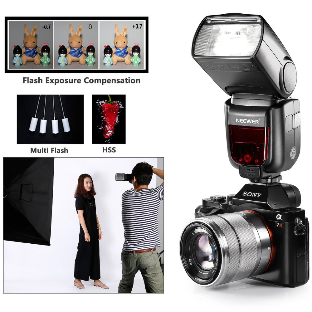 US $65 0 |Neewer GN60 2 4G Manual HSS Master Slave Flash Speedlite for Sony  A7 A7S A7SII A7R A7RII A7II A6000 A6300 A6500 A77II A58 A99-in Flashes