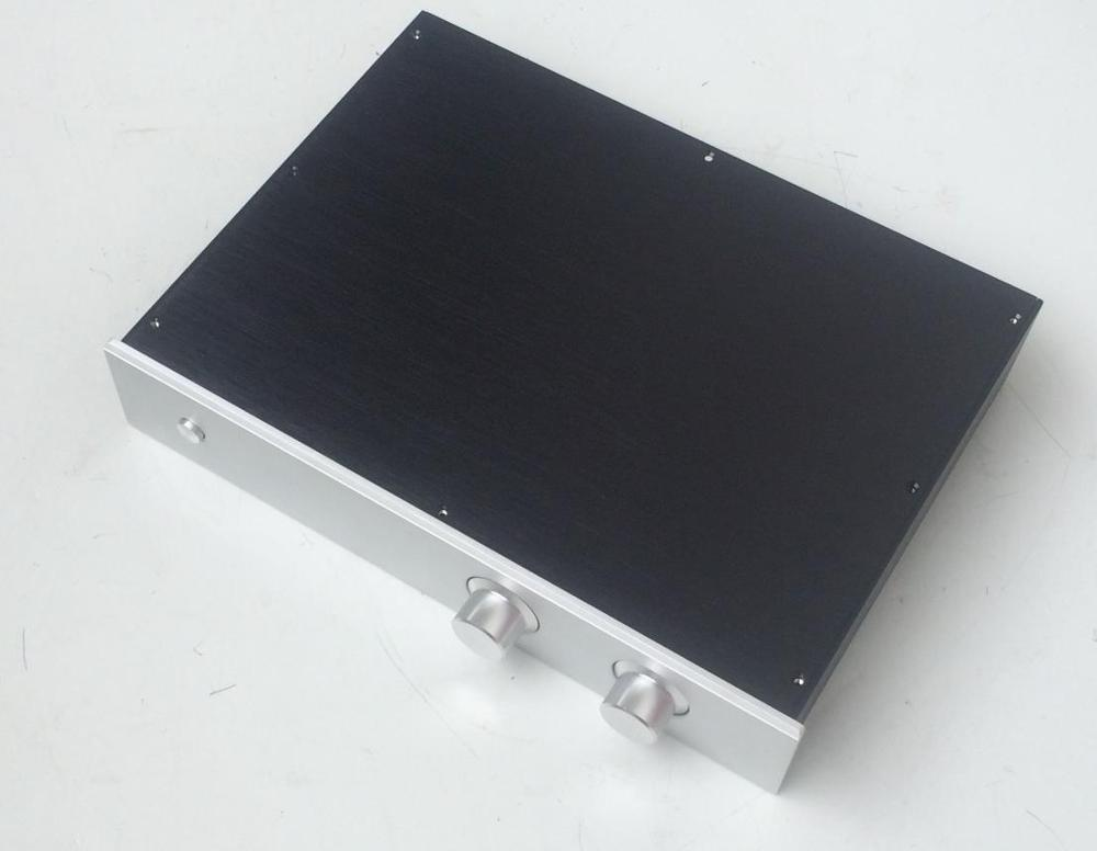case size:430*80*308mm BZ4308 VU Meter Full aluminum amplifier chassis/Preamp/Integrated Amplifier/AMP Enclosure/case/DIY box stainless steel full window with center pillar decoration trim car accessories for hyundai ix35 2013 2014 2015 24