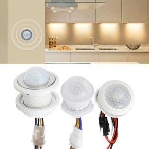 Image 1 - Corredor da cozinha pir sensor detector interruptor inteligente ajustável tempo de atraso 110v 220v pir sensor de movimento infravermelho interruptor de luz