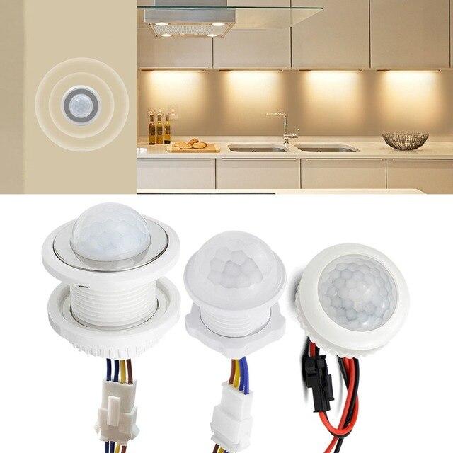 Corredor da cozinha pir sensor detector interruptor inteligente ajustável tempo de atraso 110v 220v pir sensor de movimento infravermelho interruptor de luz