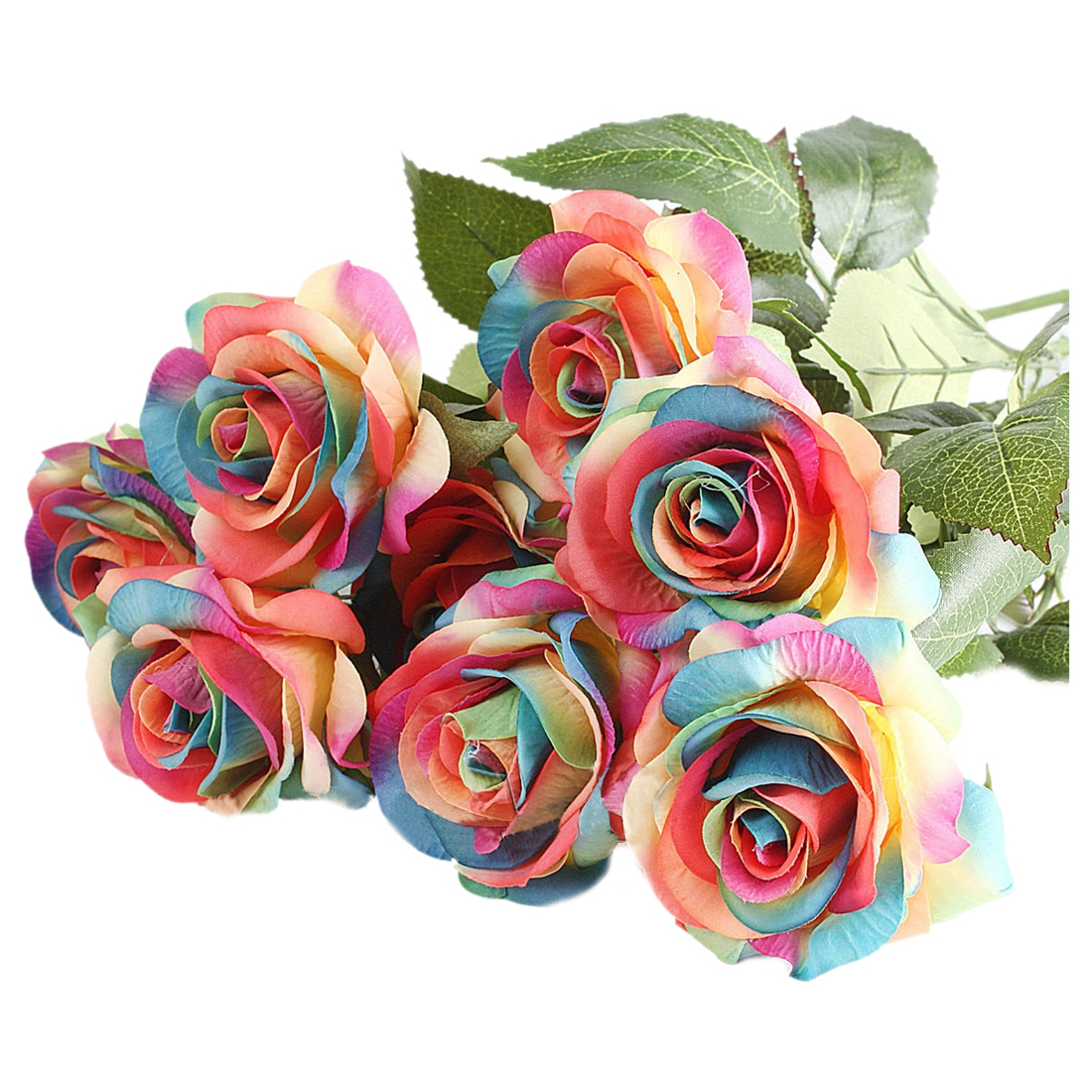 Compare prices on silk rainbow roses online shopping buy for Where can i buy rainbow roses