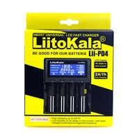 LiitoKala Lii-PD4 500 PL4 402 202 S1 S2 caricabatteria per 18650 26650 21700 18350 AA AAA 3.7 V/ 3.2 V/1.2 V al litio NiMH batteria