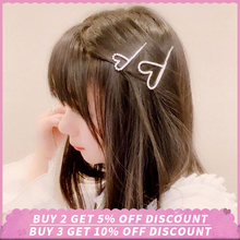 New Crystals Hairpin Barrette Bobby Hair Pins Wedding Styling Tool Metal Clips Fashion for Women Girl