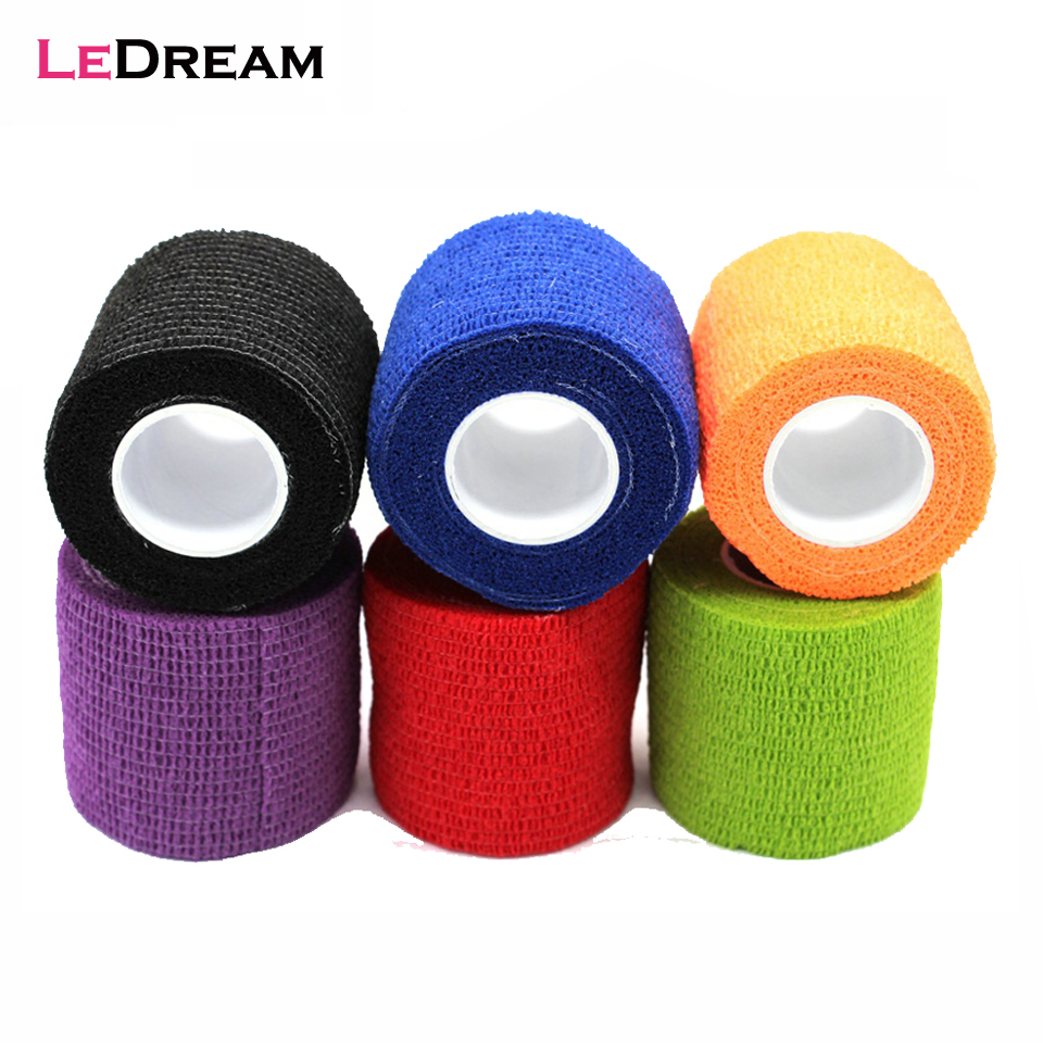 1 Roll 5*450cm Disposable Self-adhesive Flex Elastic Bandage Tattoo Handel Grip Tube Wrap Elbow Stick Medical Tape Accessories