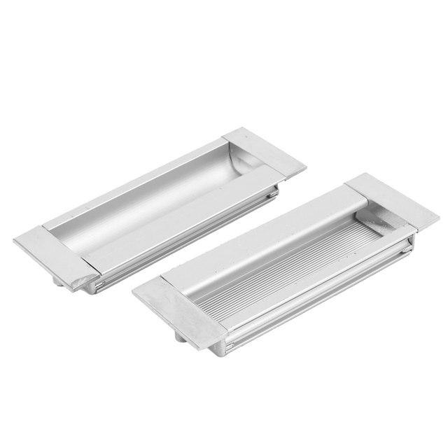 UXCELL Tiroir Cabinet Placard Porte Coulissante Rectangulaire Rincer Traction Poignée 110 Mm X 39 Mm 2 Pcs