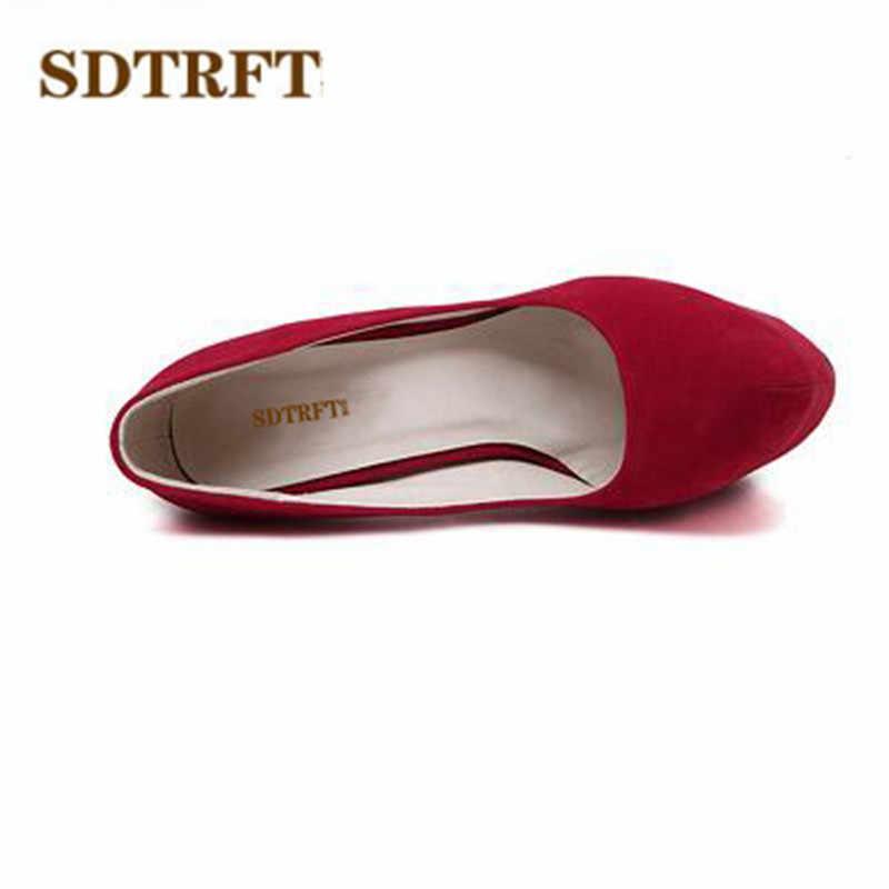 SDTRFT İlkbahar/Sonbahar kadın ayakkabısı Lüks zarif seksi 16 cm ince yüksek topuklu düğün ayakkabısı gelin tek kadın Pompaları