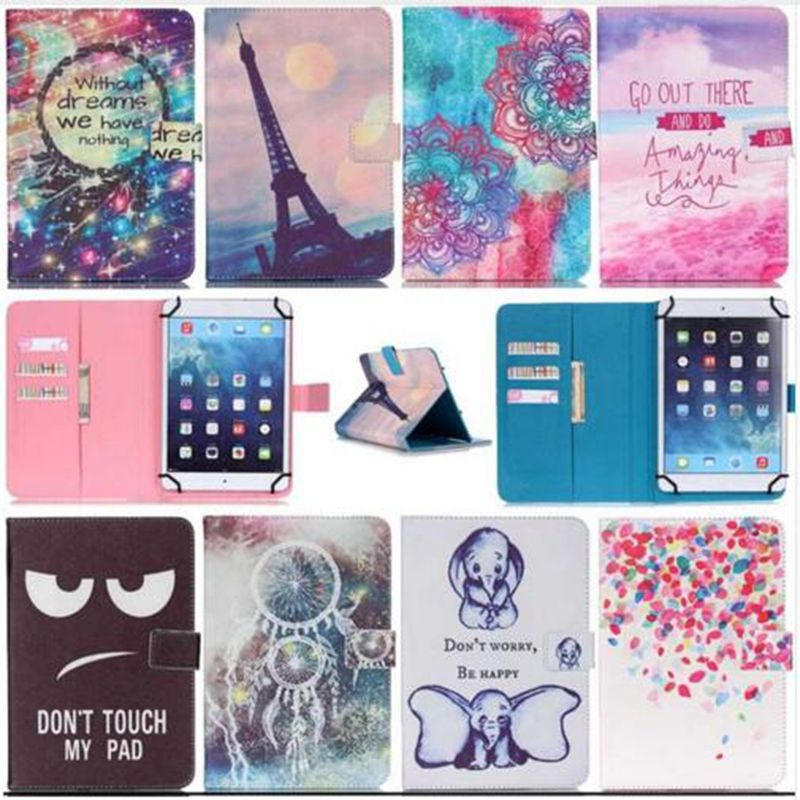 Luxury PU Leather Cover Case for Tablet 10 Inch Universal Case Protective Skin Print Wallet Android Tablet PC PAD 10 Accessory dolmobile luxury print flower pu leather case cover for chuwi hi13 13 5 inch tablet with hand holder stylus pen