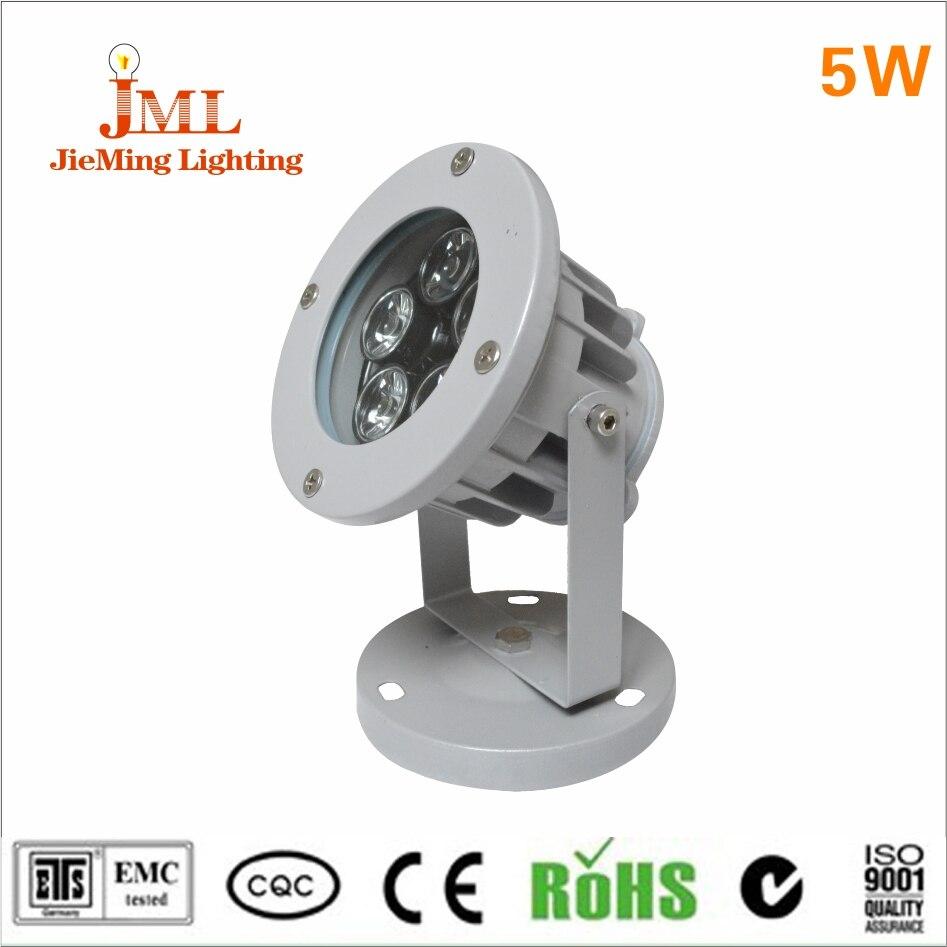 5W LED Round shape dustproof landscape Floodlight DC12V led spotlight outdoor foold lamp track garden light led light reflector