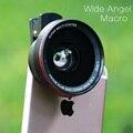 LIEQI Pro 2 en 1 58mm Lente GRAN Angular 0.67X con 10x lente macro para iphone 7 plus sumsang oppo huawei p9 smartphone móvil teléfono