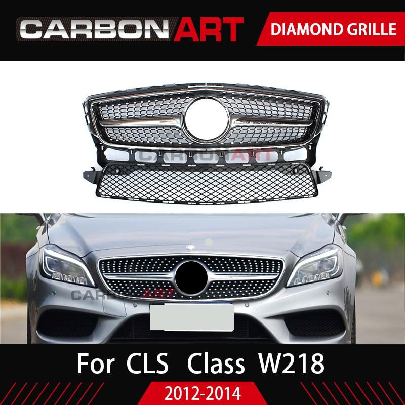 W218 griglia Del Diamante di Stile di disegno di ricambio ABS griglia Anteriore della maglia per Mercedes 2012-2014 CLS CLASSE W218