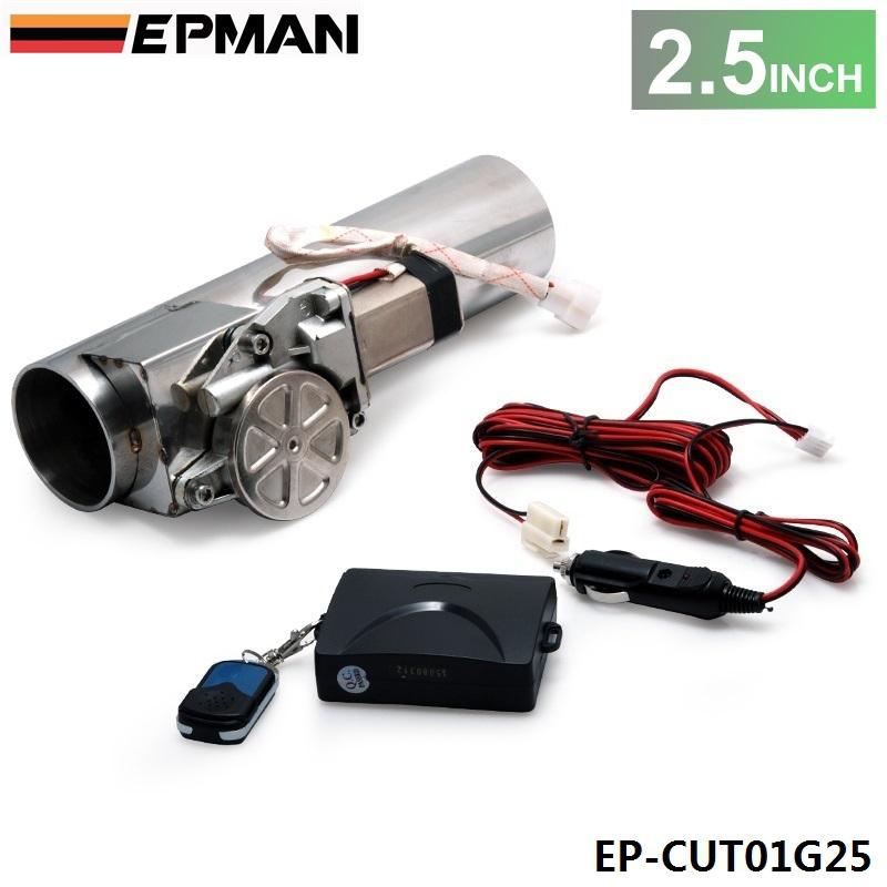 """Prix pour Autofab-2.5 """"tuyau d'échappement i électrique tuyau d'échappement de découpe électrique avec soupape de gros de contrôle à distance pour honda af-cut01g25"""