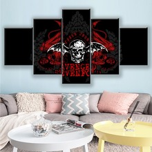 HD Printed Canvas Modular Pictures For Bedroom Or Living Room Home Decor 5 Pieces Music Avenged Sevenfold Mark Wall Art Painting