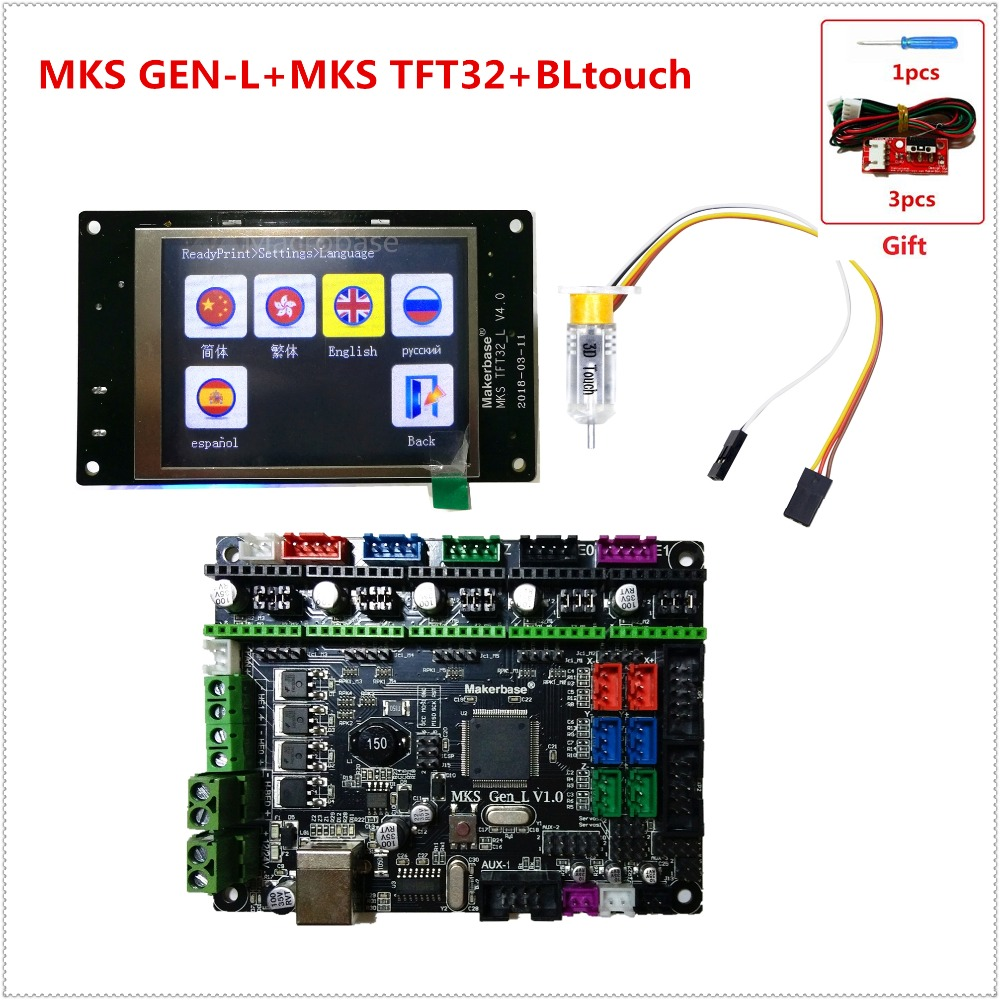 Computers & Accessories Control Board MKS Gen-L V1.0 Integrated Mainboard MKS Gen L V 1.0 for 3D Printer MKS TFT28 2.8 Touch Screen Display