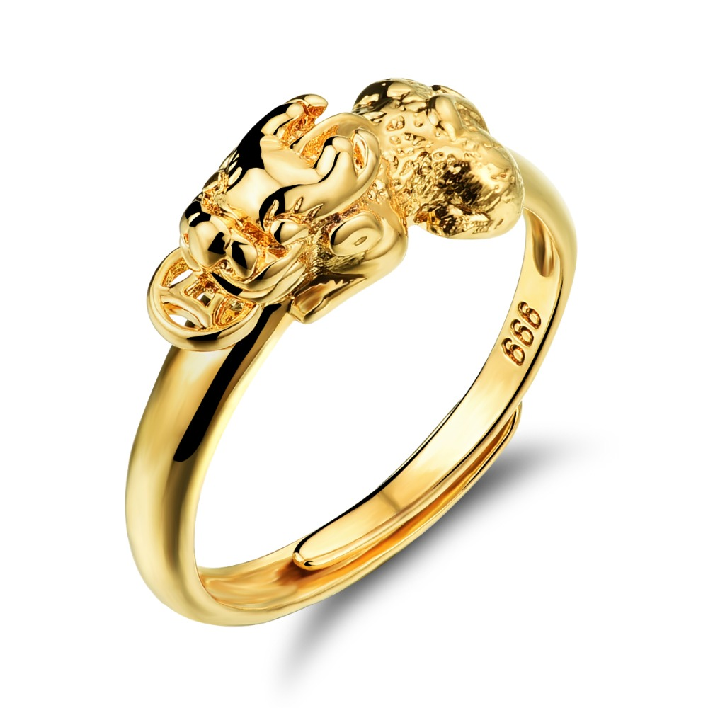 Open Rings for Women Gold Color Ring Animal Pi Xiu Jewelry Adjustable Wedding Rings Fash ...
