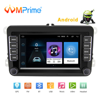 AMPrime 2 Din 7 Android Car Multimedia player For VW/Volkswagen/Passat/POLO/GOLF/Skoda/Seat With 2din GPS Navigation Aux Maps