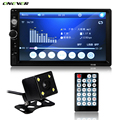 2 din 7 inch Car FM Radio MP3 MP5 Player In Dash Touch Bluetooth Stereo Video Handsfree with Rear View Camera USB TF AUX IN