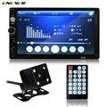2 din 7 polegada Rádio FM MP3 MP5 Player Do Carro Em Traço toque em Bluetooth Stereo Handsfree Vídeo com Câmera de Visão Traseira USB TF AUX EM