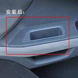 2 unids/set Coche NUEVO ABS Interior Manijas de Puerta Interior Cubierta de la Caja De Almacenamiento Apoyabrazos Guante Caso Pegatina para Ford Ecosport coche accesorios