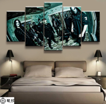 5 Panel Slipknot Heavy metal band poster Canvas Printed Painting For Living Room Wall Art Decor Picture Artworks Poster