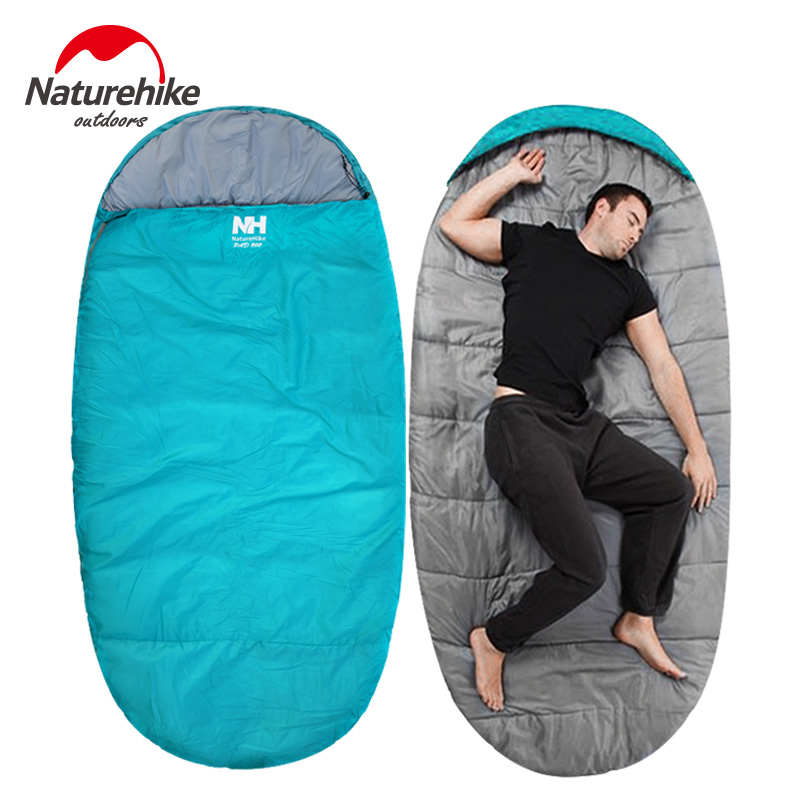 NatureHike big sleeping bag Outdoor Ultralight adult Autumn Winter Travel Camping Water Resistant Thick Portable Sleeping Bags naturehike outdoor travel camping storage bag folding luggage bag organizer with wheels travel kits tent sleeping bag set bag