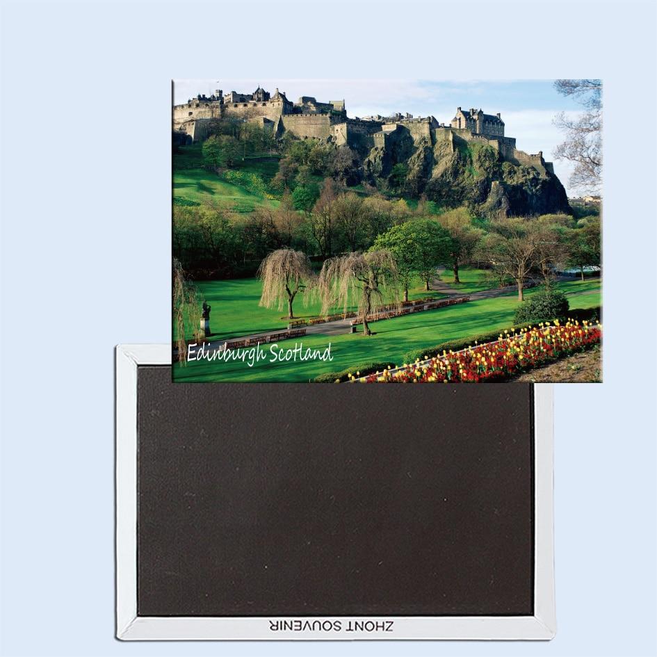 Edinburgh castle edinburgh scotland magnetic refrigerator stickers tourist souvenirs small gifts 24758 in fridge magnets from home garden on
