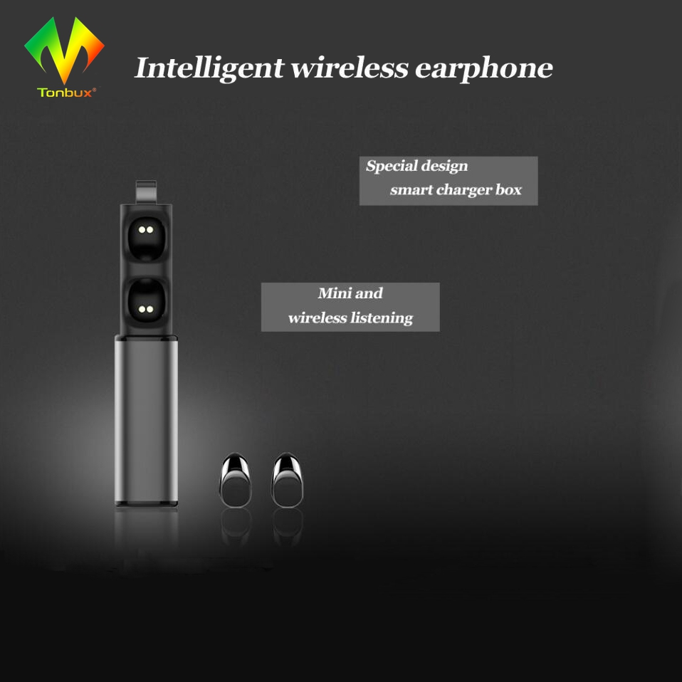 Tonbux Wireless Bluetooth Earphone Sport True Earbuds TWS K8 Headset with Charger Box for Iphone/Andriod with Microphone wireless bluetooth earphone bluetooth headset earbuds sport driving music with microphone earphone 2017for iphone samsung xiaomi