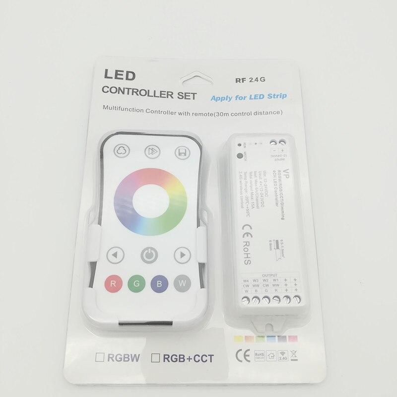 Beleuchtung Zubehör Ehrlichkeit Vp 2,4g Wireless Rgbw/rgb/cct/dimmen 4ch Dc12-24v 12a 4 In 1 Smart Led Streifen Licht Controller R8-1 Rgb/rgbw Fern
