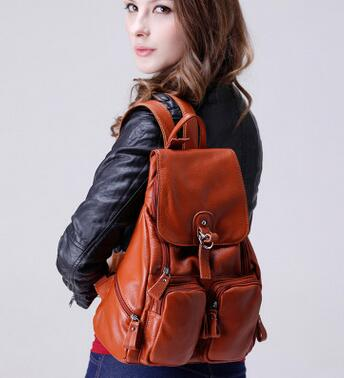 New Fashion bag women's backpack Genuine Leather Backpack Student's School Bag Backpack Casual Shoulder Bag цена 2017