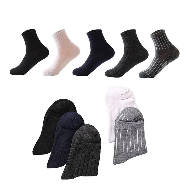 5 pairs/lot Men Socks Brand Classical Long Dress Cotton Socks Dress Business Casual Breathable Mens Socks Pure Color Male Meias