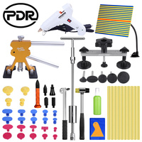 PDR Professional Vehicle Dent Repair Car Body Dent Repair Tools Puller Hand Tool LED Line Board Glue Sticker Set